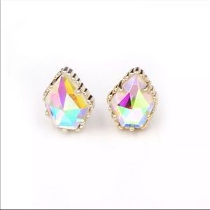 NEW Rose Gold Dichroic Prismatic Stud Earrings